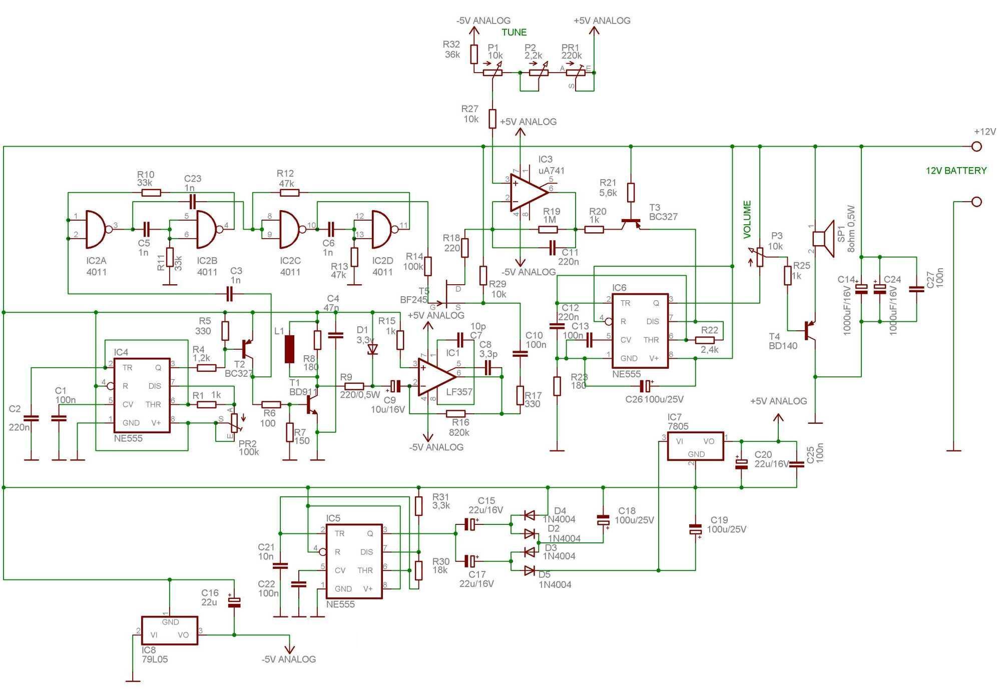 Professional Metal Detector Schematic